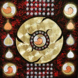 Tableau Peinture Thailande Abstract Line Art Yantra