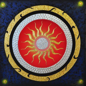 Tableau Peinture Thailande Abstract Painting Canvas Sun God