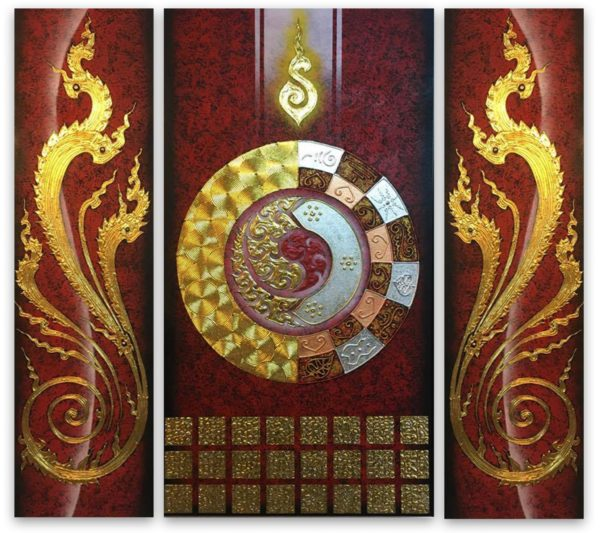 Tableau Peinture Thailande Abstract Wall Art One Universe
