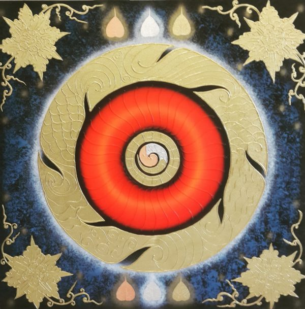 Tableau Peinture Thailande Abstract Wall Painting One Universe