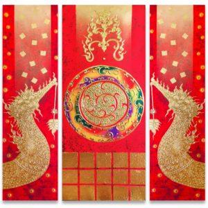 Tableau Peinture Thailande Acrylic Abstract Painting Supannahong