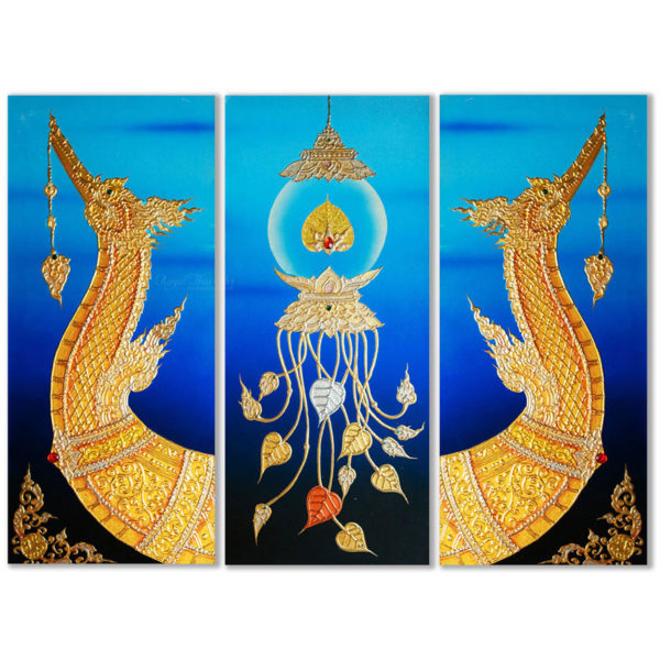 Tableau Peinture Thailande Animal Artwork Royal Thai Supannahong