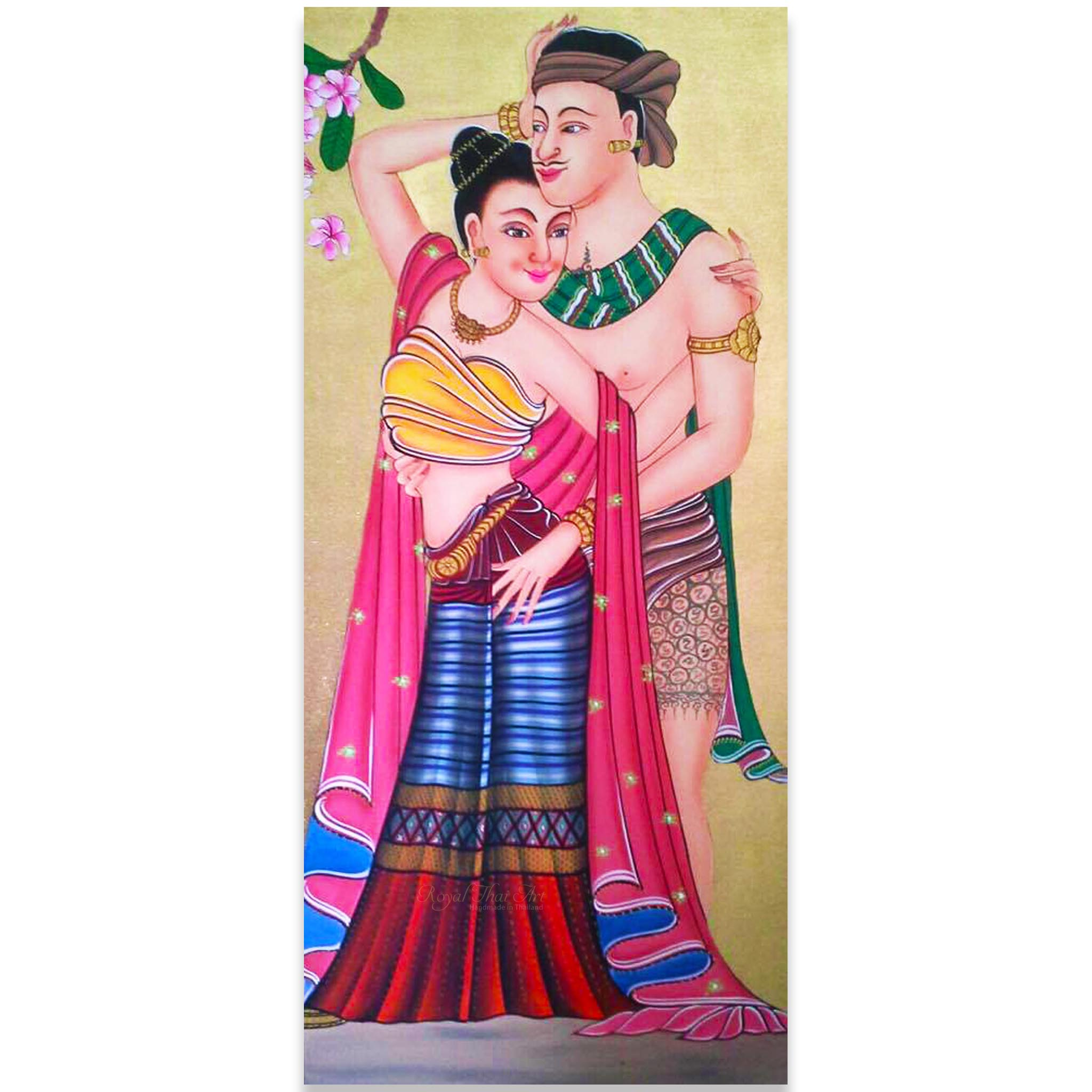 tableau peinture thailande art of siam thai lovers assistant shopping. Black Bedroom Furniture Sets. Home Design Ideas