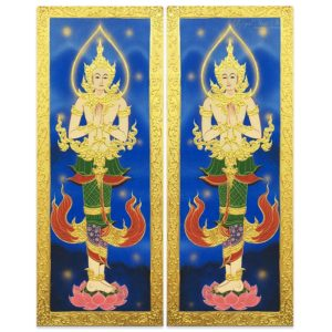 Tableau Peinture Thailande Asian Wall Art Thai Angel Guardian Male