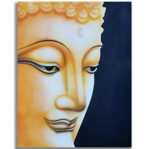 Tableau Peinture Thailande Buddha Face l The Man of Peace