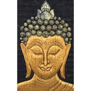 Tableau Peinture Thailande Carved Wood Wall Art Gold Buddha Painting