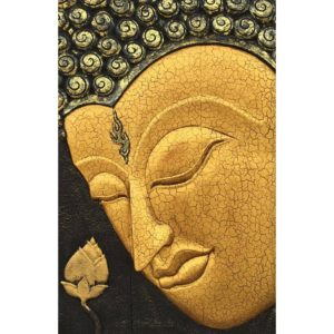 Tableau Peinture Thailande Carved Wooden Wall Art Gautama Buddha Painting