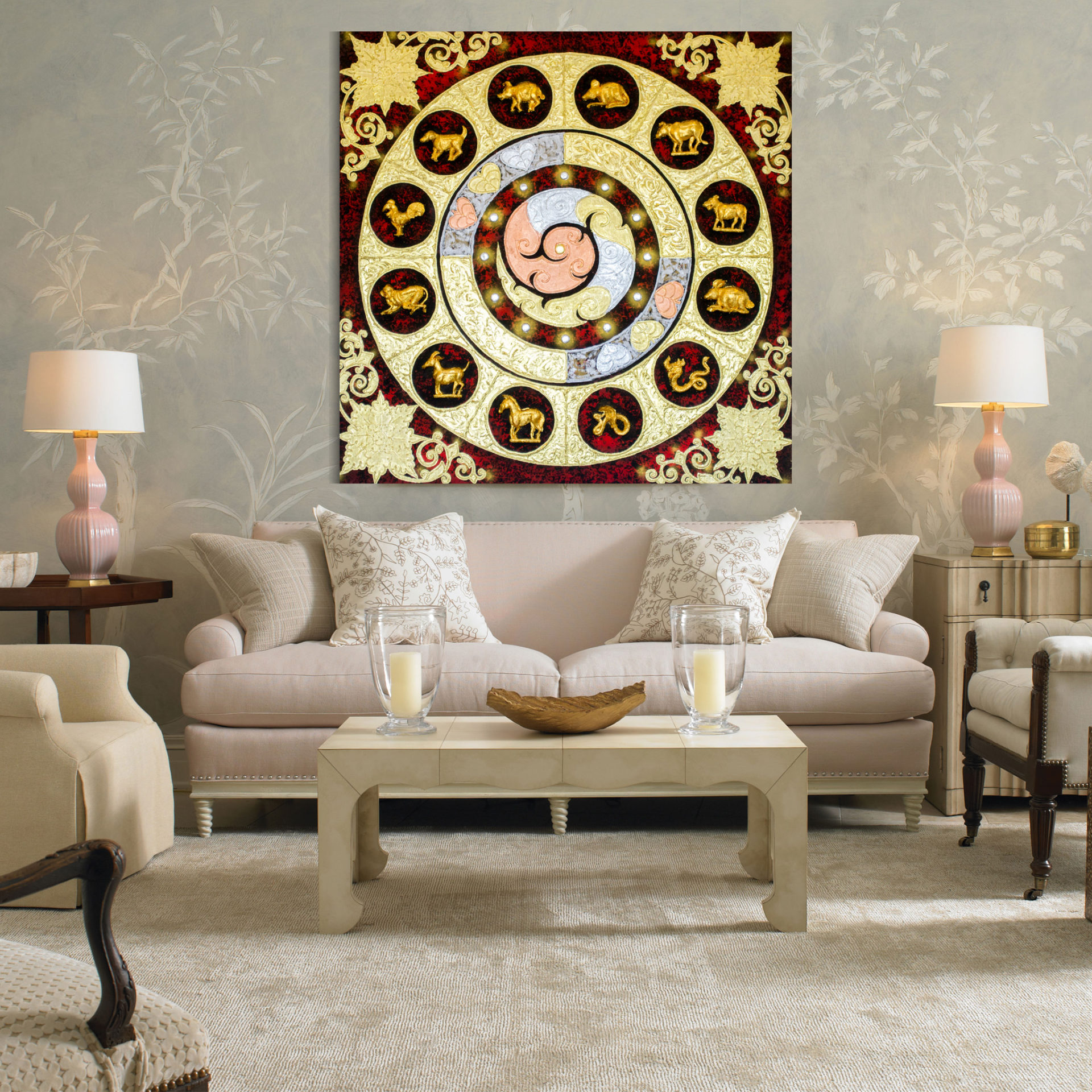 tableau peinture thailande famous abstract art thai zodiac assistant shopping. Black Bedroom Furniture Sets. Home Design Ideas