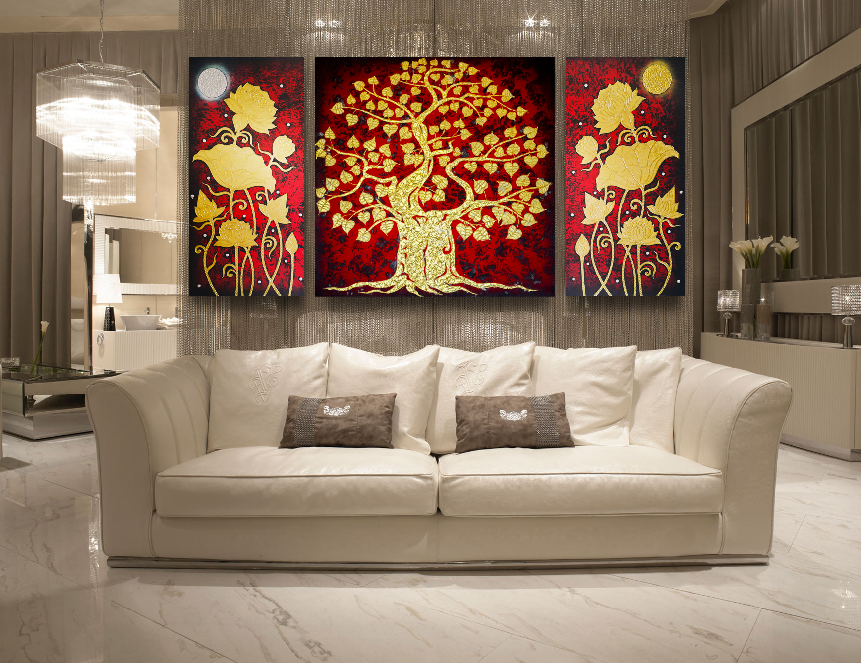 tableau peinture thailande famous asian art banyan tree painting assistant shopping. Black Bedroom Furniture Sets. Home Design Ideas