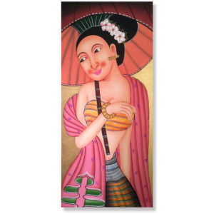 Tableau Peinture Thailande Famous Woman Painting Ancient Thai Lady