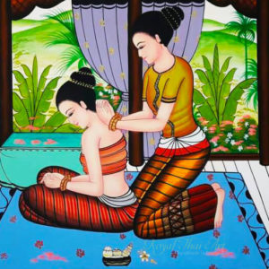 Tableau Peinture Thailande Fine Art Traditional Thai Massage