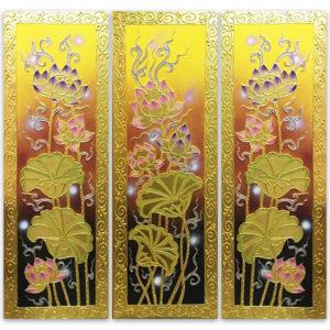 Tableau Peinture Thailande Lotus Flower Painting Elegant Blossom