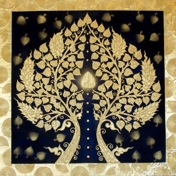 Tableau Peinture Thailande Unique Art Banyan Tree Painting