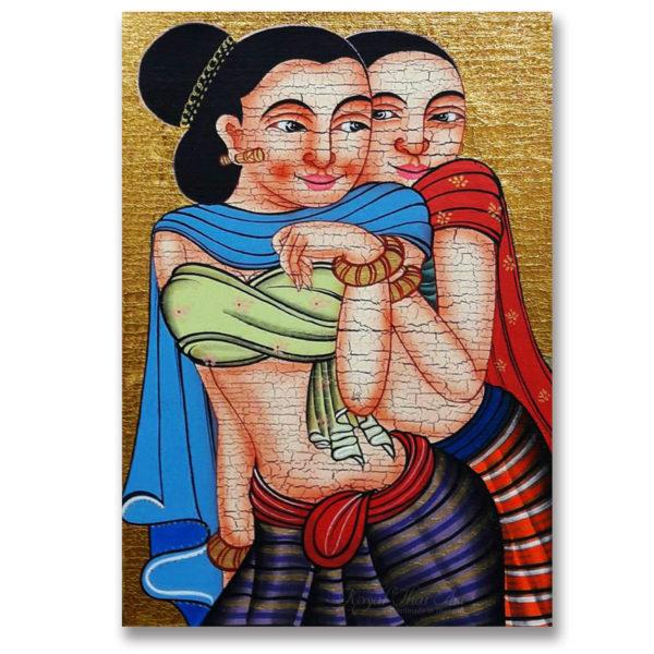Tableau Peinture Thailande Woman Painting Beautiful Thai Sister