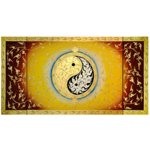 Tableau Peinture Thailande Yin Yang Large Abstract Canvas Art