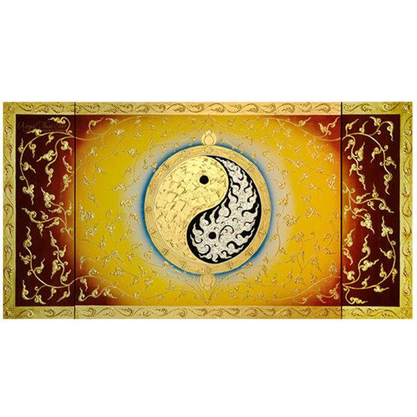 Tableau Peinture Thailande Yin Yang Large Abstract Canvas Art
