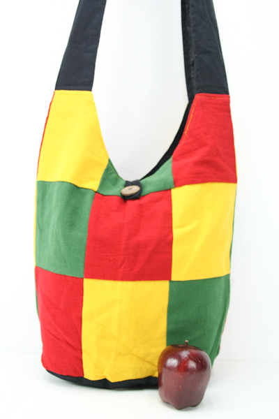 grossiste rasta vente tha lande sac rasta bandouli re tissus carr s vert jaune rouge sac hippie. Black Bedroom Furniture Sets. Home Design Ideas