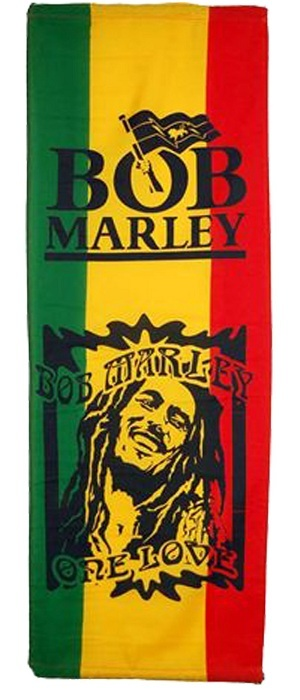 drapeau rastafari bob marley one love vertical couleurs reggae vert jaune rouge 110x50 cm. Black Bedroom Furniture Sets. Home Design Ideas