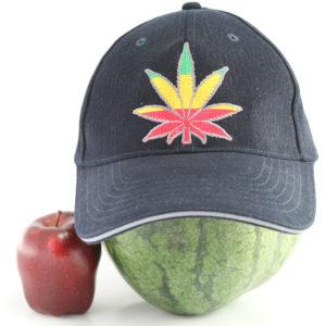 Casquette Noire Cannabis Flexfit