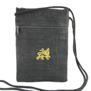 Sac Passeport Noir 14x20 Lion de Juda