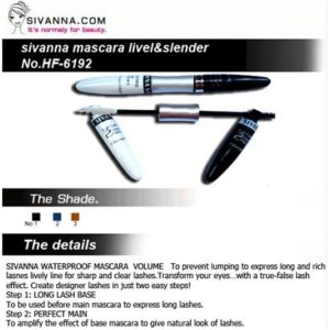 2 IN 1 SIVANNA MASCARA LIVELY & SLENDER